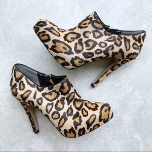 Sam Edelman Ria Leopard Calf Hair Bootie